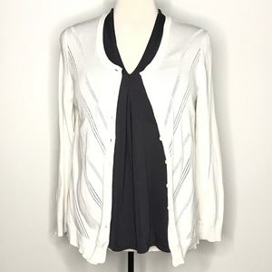 Tommy Hilfiger Sweaters - Tommy Hilfiger White Knit Cardigan Sweater A190856